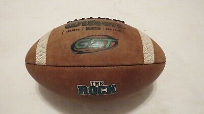 "2018 Game Used Wilson GST 1003 Slippery Rock ""The Rock"" College Football! NCAA"