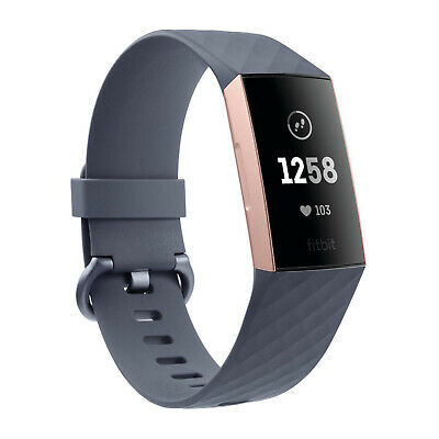 Fitbit Charge 3 Blue Grey/Rose Gold Womens