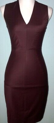 TED BAKER Two Piece Suit Set Oxblood Edge To Edge DRESS anthropologie XSmall