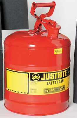JUSTRITE 7150100 5 gal. Red Steel Type I Safety Can for Flammables