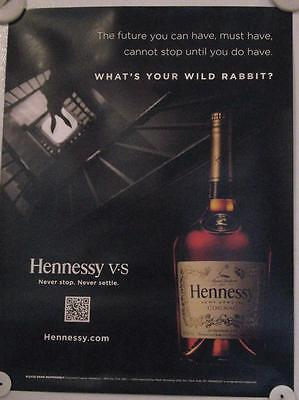 New Lot of 2 Store Display Paper Posters HENNESSY Black NY VIP