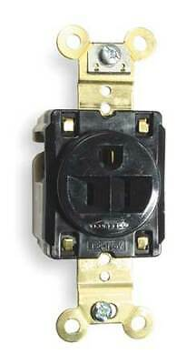 HUBBELL WIRING DEVICE-KELLEMS HBL5261BK 15A Single Receptacle 125VAC 5-15R BK
