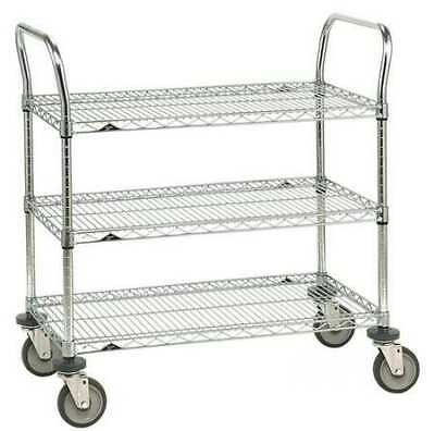 METRO 3SPN33ABR -1PK/25 Wire Cart,18 In. W,36 In. L,Steel