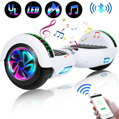 "6.5"" Bluetooth Hoverboard LED Self-Balancing Scooter UL2272 Wheel Without Bag"