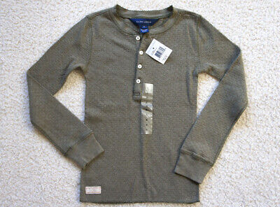 NWT Girls Polo Ralph Lauren Waffle Thermal Pullover Shirt 6
