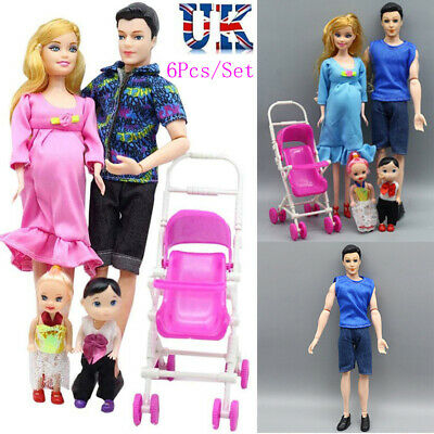 UK Family Dolls Educational Real Pregnant Doll Happy Family Set for Barbie Gifts