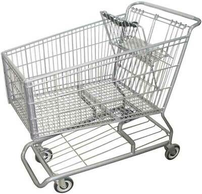 ZORO SELECT RWR-PRE-490W Wire Shopping Cart,42 In. L,25 In. W
