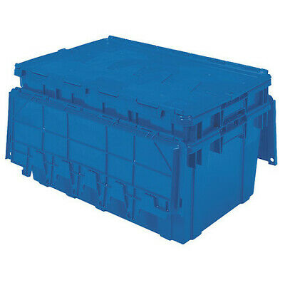 BUCKHORN AR2717120209000 Attached Lid Container, 2.25 cu. ft., Blue