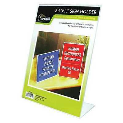 NUDELL 35485 Sign Holder,Freestanding,8-1/2x11Acrylic