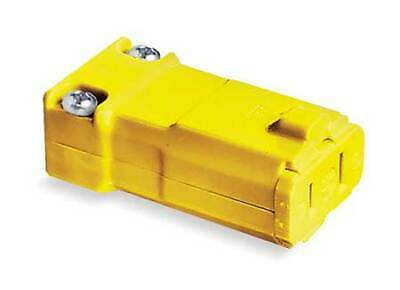 HUBBELL WIRING DEVICE-KELLEMS HBL5869VY Connector,1-15R,15A,125V