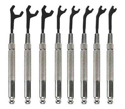 MOODY TOOL 58-0151 Open End Wrench Set,30 Deg,5/64-5/16,8Pc