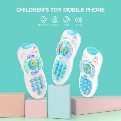 Baby Music TV Mobile Phone Remote Control Numbers Learning Educational Kids Toy