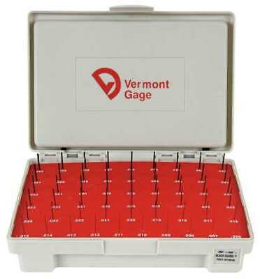 VERMONT GAGE 901100100 Pin Gage Set,Plus,0.006-0.060 In,Black