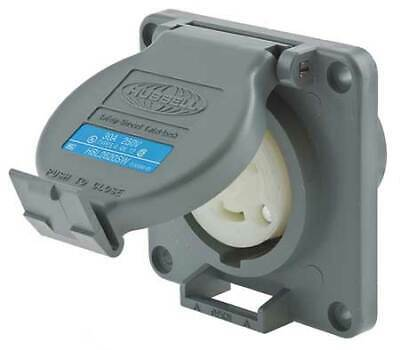 HUBBELL WIRING DEVICE-KELLEMS HBL2620SW 30A Watertight Twist-Lock Receptacle 2P