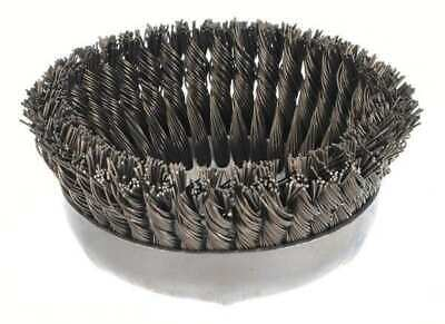 WEILER 94027 Knot Wire Cup Wire Brush, Threaded Arbor, 6""