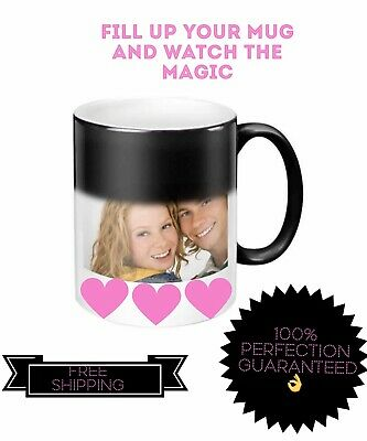 New Personalised Heat Colour Changing Magic Mug Image Photo Logo Text Cup