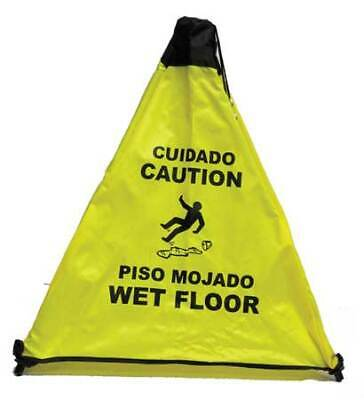 NOVUS PRODUCTS PC111Y Safety Cone,Caution Wet Floor,Bilingual