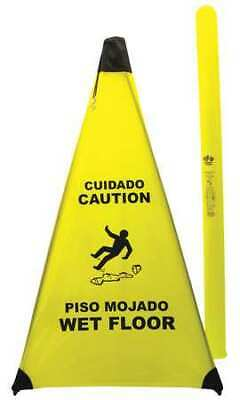 NOVUS PRODUCTS PC131 Soft Safety Sign,Caution Wet Flr,Eng/Sp