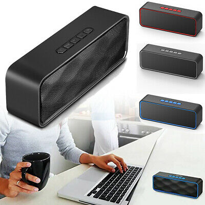 Loud Speaker Portable Wireless Boombox Aux Rechargeable Stereo System