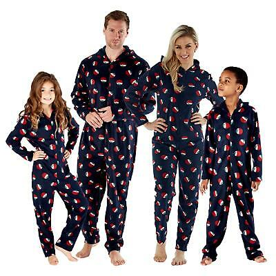 Family Mens Womens Kids Matching Christmas Pudding Xmas All in One 1Onesie PJs