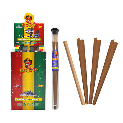 HONEYPUFF 72X King Size Natural Blueberry Flavored PreRolled Rolling Paper Cones