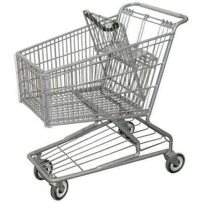 ZORO SELECT RWR-PRE-172W Wire Shopping Cart,32-3/4 In. L