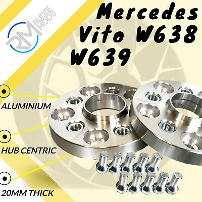 Mercedes Vito W638 W639 5x112 20mm Hubcentric Wheels Spacers M14x1.5 bolts