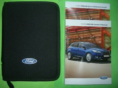 Ford Focus Handbook Owners Manual + Quick Ref Guide & Ford Wallet, 2014 - 2018