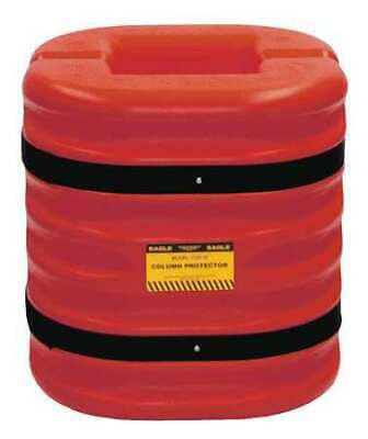 ZORO SELECT 172410RED Column Protectr,Fits 10 in.,HDPE,Rd
