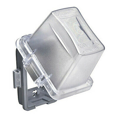 """RACO MM720C While In Use Cover,4-3/4"""" D,1 Gang,Clear"""