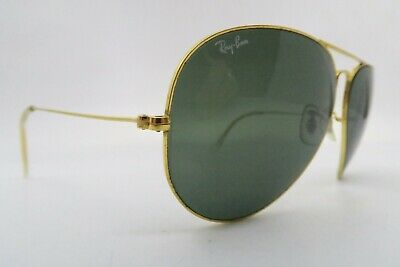 Vintage B&L Ray Ban aviator sunglasses etched BL size 62-14 made in the USA ****