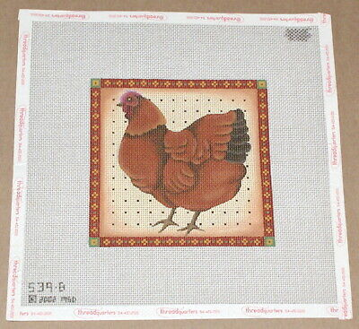 "Melissa Shirley Chicken ""Brown & Black Hen"" Handpainted Needlepoint Canvas"