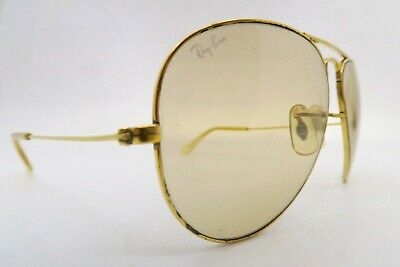 Vintage B&L Ray Ban aviator sunglasses etched BL photochromic lens USA KILLER