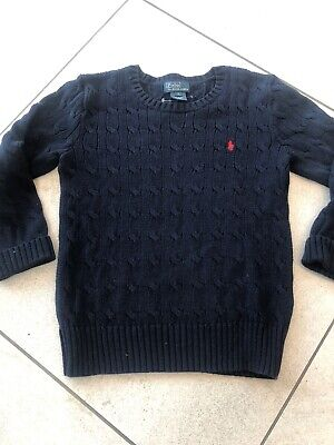 polo ralph lauren Jumper Age 7 Navy Cable Knit Boys Girls