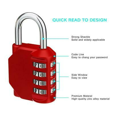 Resettable 4 Digit Password Combination Padlock Security GYM Lo O0Z2 School S3S1
