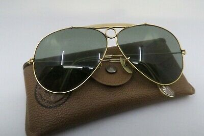 Vintage gold filled B&L Ray Ban Shooter sunglasses USA 1/30 10K GO KILLER ****