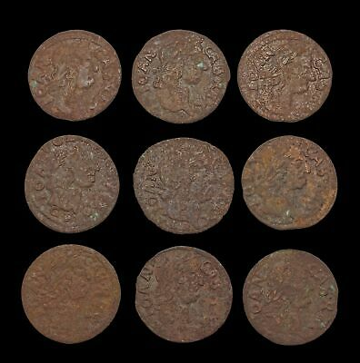 POLAND. Jan of Casimir Solidus, Lot of 9, Horseman and Eagle types