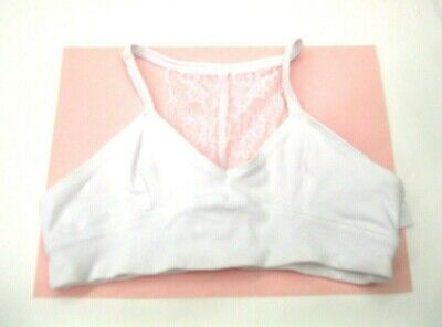 Maiden Form Girl Puberty Bra NWT Size Small White Racer Back Lace Cotton KD81