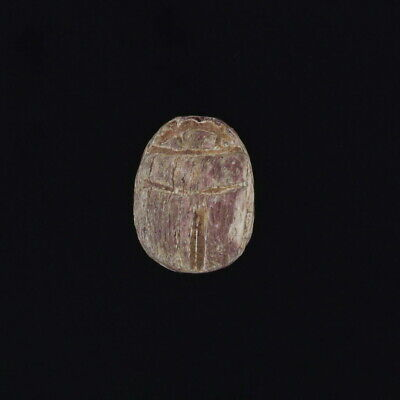 Carved Stone Scarab Ancient Egyptian Artifact Bead Engraved Relic Jewelry Making