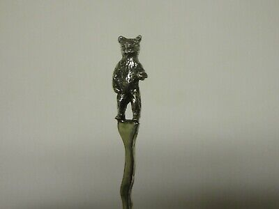 Salt Spoon Sterling Silver ( Bear )
