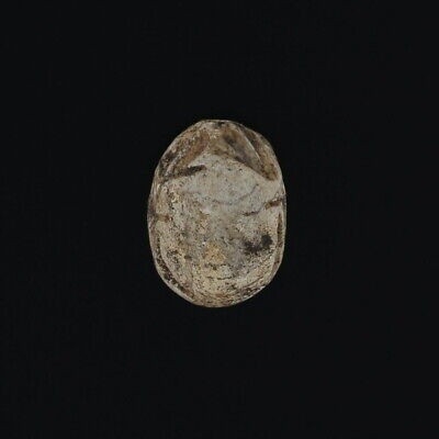 Carved Stone Scarab Ancient Egyptian Relic Engraved Artifact Jewelry Making Bead