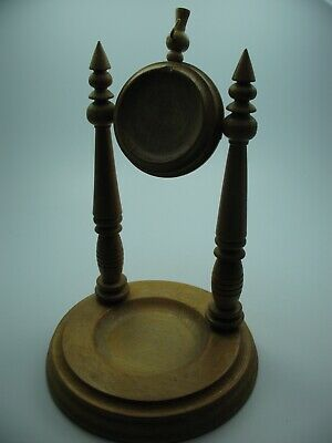 Very Large Beautiful Old Wood Pocket Watch Stand from Ca 1920