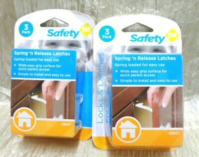 Safety 1st Spring Loaded Cabinet and Drawer Latches Package of 6 #48447 (BIN 22)