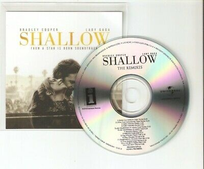 Lady Gaga & Bradley Cooper 'Star Is Born' / Shallow Remixes 14 Remix Cd Promo