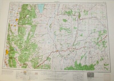 1954 Ogden, Utah - Wyoming Topographic Map / Wasatch Mountains / Logan Kemmerer
