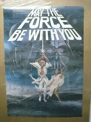 May The Force Be With You Star Wars Movie Vintage Poster Garage 1977 Cng1113