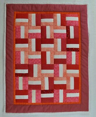 "Baby Security blanket - small Baby quilt  #1 23""x30"""