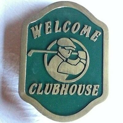 Golf Clubhouse 3D routed carved wood bar pub club  plaque sign Custom Carved