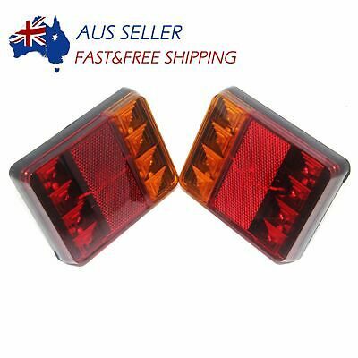 2x 12V 36 LED Ute Rear Trailer Tail Lights Caravan Truck Boat Car Indicator Lamp