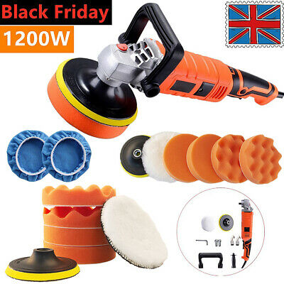 "1200W 5"" Electric Car Polisher Buffer Sander Variable 7 Speed Polishing Machine"